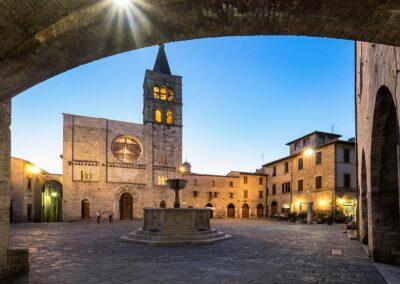Uno scorcio del centro storico di Bevagna
